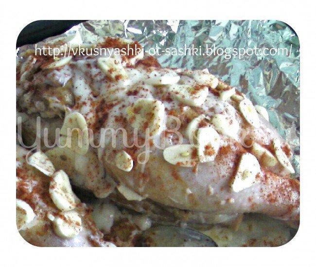 Чесночная курица по-венгерски (magyar fakhagymás csirke) - шаг 1