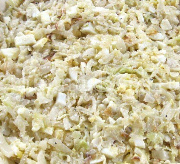 Открытый пирог с капустой и сосисками - шаг 2