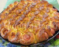 Открытый пирог с капустой и сосисками - шаг 7