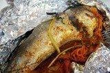 Рыба с овощами и черемшой