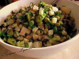 Салат зеленый с черемшой