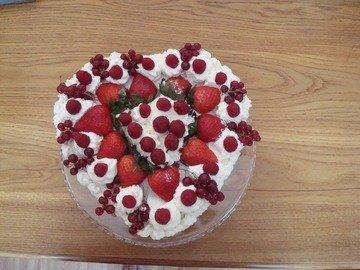 Фруктовый тортик на завтрак, пошаговый рецепт с фото