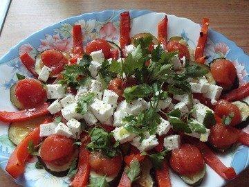 Закуска из запеченных овощей