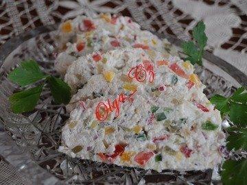 Вегетарианский сальцесон (творожно-овощной батон)