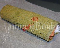 Салат из осетрины и лосося со шпинатом, пошаговый рецепт с фото