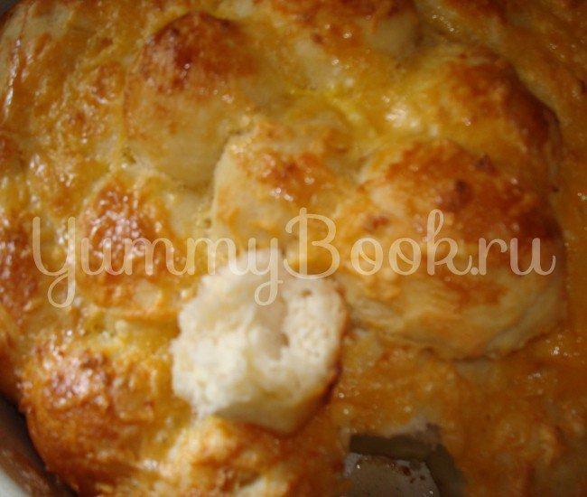 """""""Обезьяний"""" хлеб с сыром и чесноком - шаг 4"""