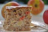Пирог ореховый с яблоками