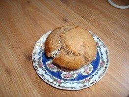 Шоколадные кексы с творожной начинкой
