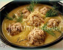 Картофельный суп-пюре с чесночными фрикадельками - шаг 1