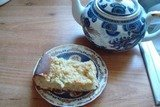 Пышный пирог с ревенем