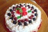Ореховый торт под сливочным покрывалом