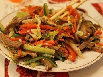 Корейский салат с языком