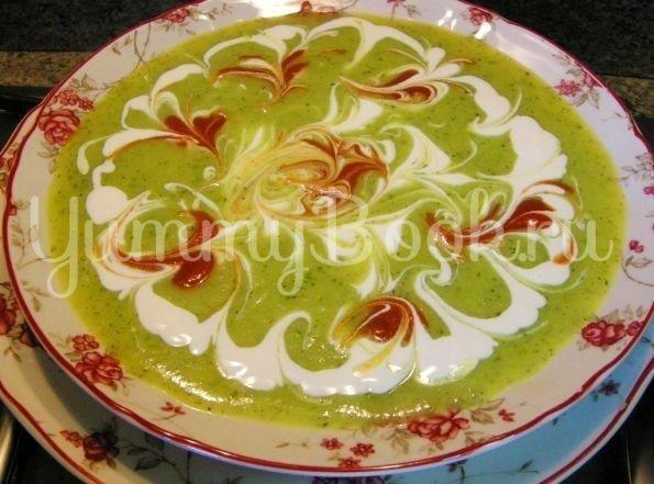 Суп-пюре из кабачков цукини