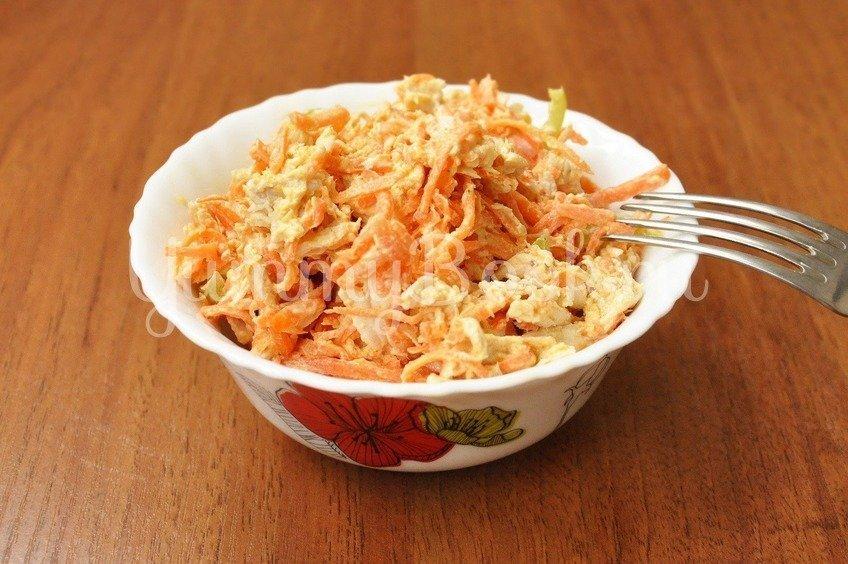 Куриный салат с корейской морковью