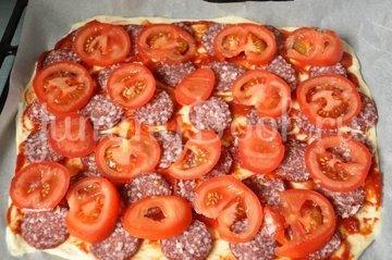 Тонкая бездрожжевая пицца - шаг 7