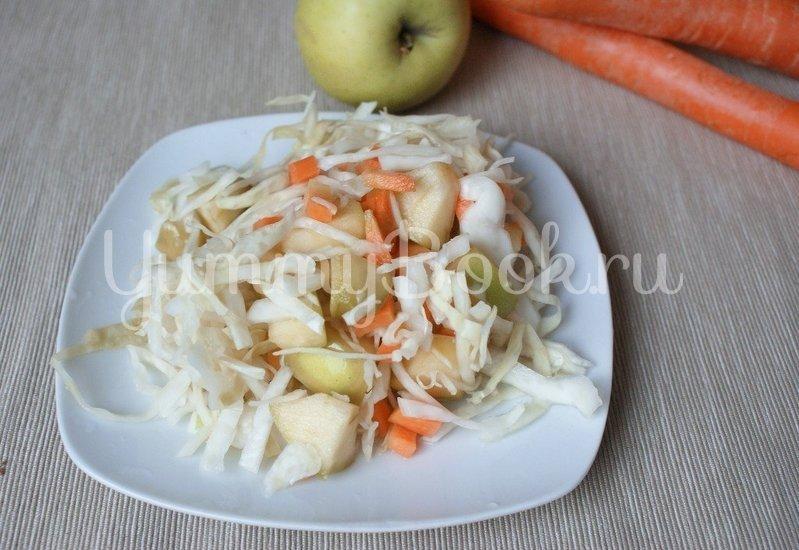 Маринованная капуста с яблоками - шаг 4