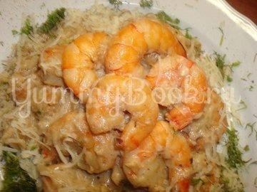 Паста с креветками и соусом песто Удачный улов, пошаговый рецепт с фото