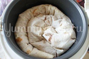 Пирог из лаваша с фаршем в мультиварке - шаг 5