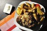 Запеченное бедро индейки с картофелем