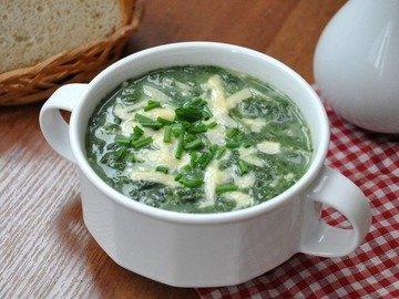 Суп со шпинатом