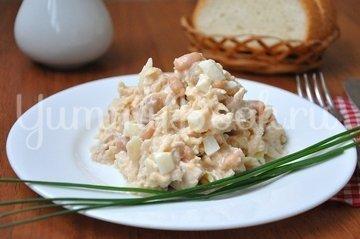 Салат с курицей, фасолью и яблоками - шаг 5