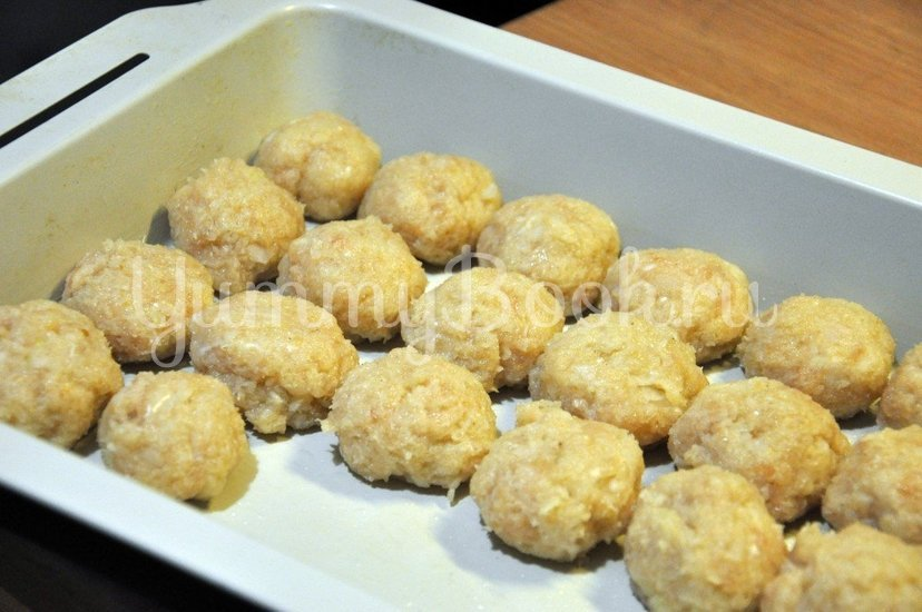 Куриные тефтельки под сырным соусом - шаг 4