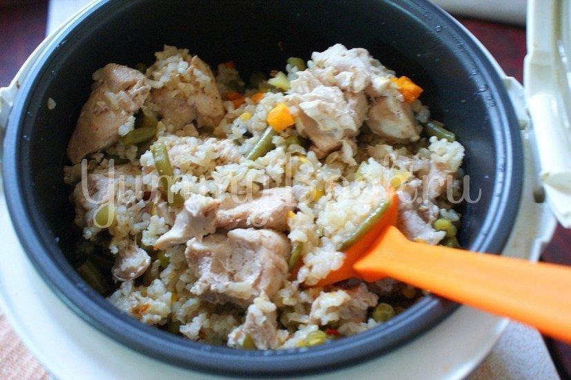 Бурый рис с мясом и овощами в мультиварке - шаг 6