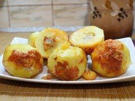 Фаршированный картофель (в мультиварке)