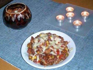 Блюдо в горшочке по-мексикански