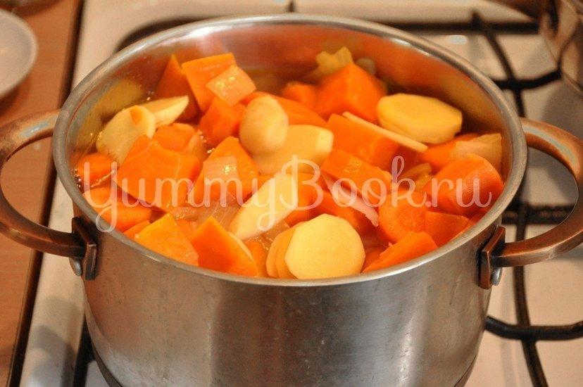 Тыквенный суп-пюре с имбирем - шаг 3