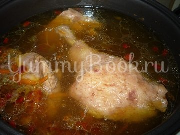 Куриный суп с клецками в мультиварке - шаг 3