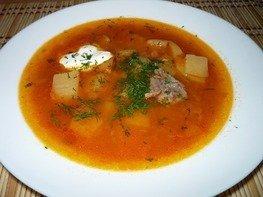 Простой томатный суп из мультиварки