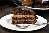 Торт Пражский с абрикосовым джемом