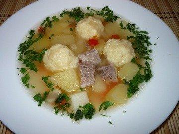 Суп с сырными шариками из мультиварки