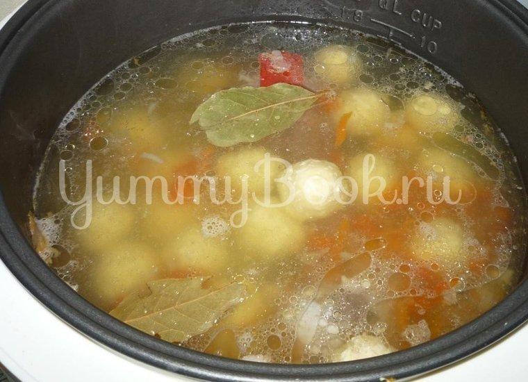 Суп с сырными шариками из мультиварки - шаг 8