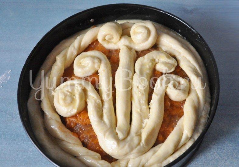 Дрожжевой пирог с тыквой и яблоками - шаг 5