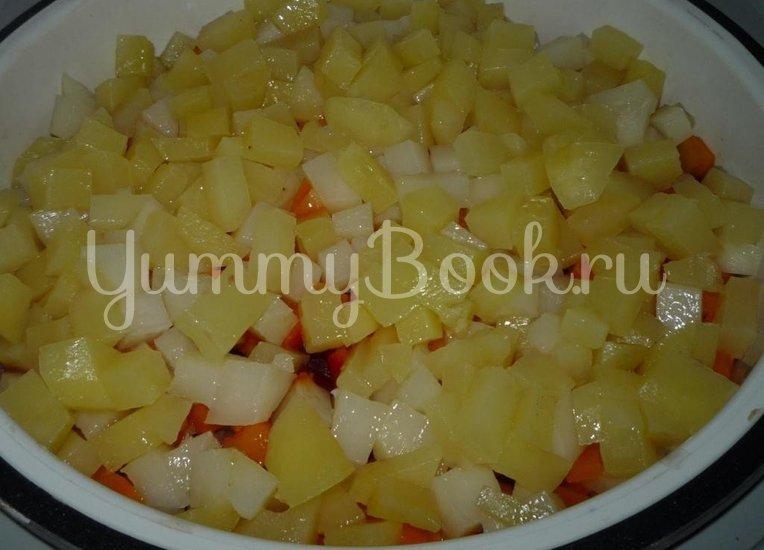 Винегрет с сельдью и консервированной фасолью - шаг 4