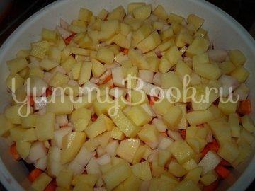 Винегрет с сельдью и консервированной фасолью - шаг 3