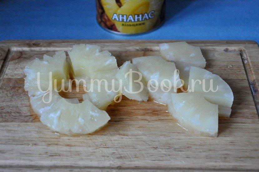 Куриное филе с ананасами на шпажках - шаг 3