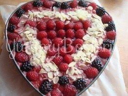 Миндальный торт без выпечки