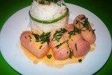 Сосиски в сметанно-томатном соусе из мультиварки