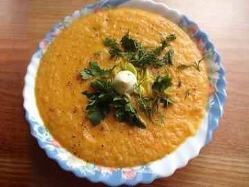 Ароматный овощной суп-пюре