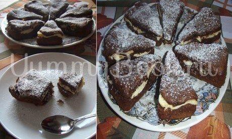 Шоколадно-творожные кексы - тортики