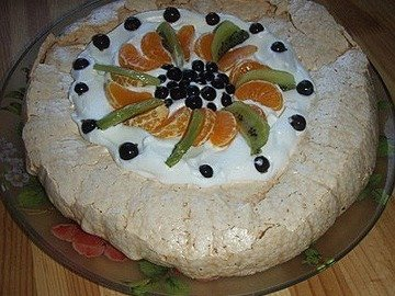"""Торт """"Павлова"""" с фруктами"""