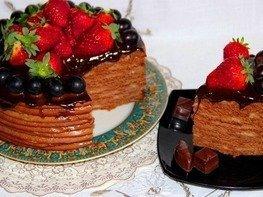 Шоколадно-медовый тортик