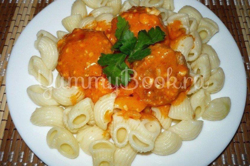 Фрикадельки под томатно-сырным соусом из мультиварки