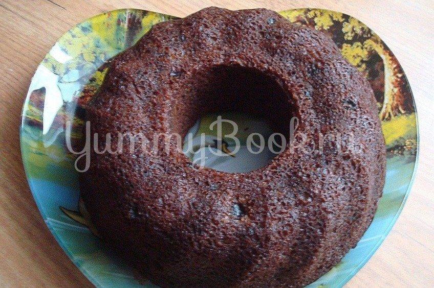 Шоколадный кекс с яблоком и изюмом