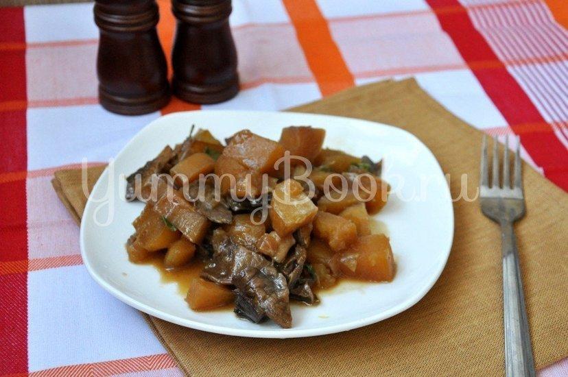 Картофель с грибами в горшочке - шаг 7