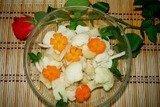 Салат с кальмарами и цветной капустой