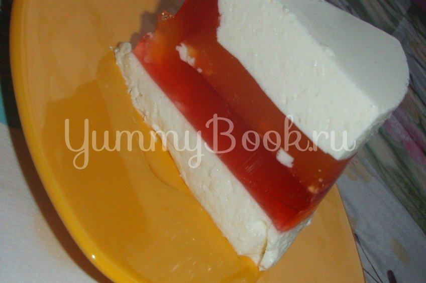 Молочно-желейный слоеный десерт